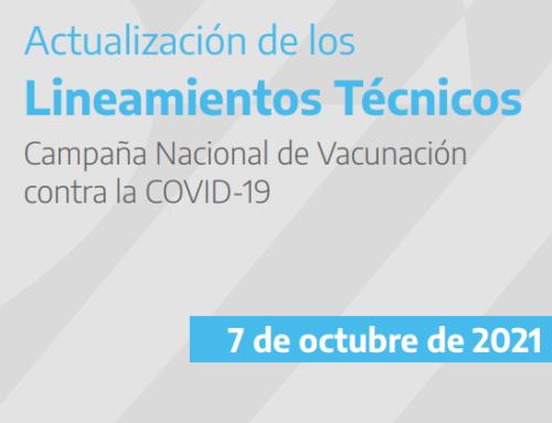 Actualización Campaña Nacional de Vacunación contra la COVID-19